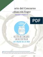 Recetario Concurso Salsas Con Yogur