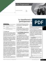 Transferencia de Acciones y Participacion de Sociedades