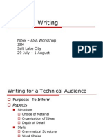 Technical Writing Tutorial - ASA Web Posting Version