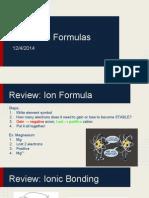 thursday week 14 notes - chemical formula