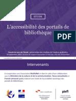 L'accessibilité des portails de bibliothèque - Volet quantitatif