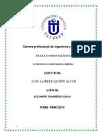 Carrera Profesional de Ingeniería y Sistemas Monagarafia Administracion Empresarial