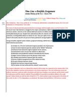 e-portfolio assignment time line