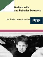 emotional behavioral disorders disability presentation