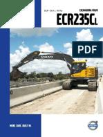 Excavadora hidraulica ecr 235 g