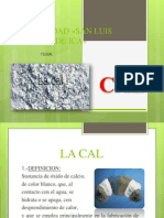 Cal. Tipos de Cemento