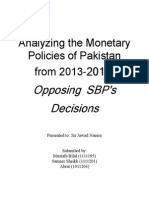 Monetary policies of Pkaistan 2013-2014