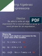 writingalgebraicexpressions
