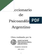 Diccionario de Psicoanálisis APA