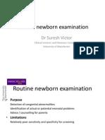 Routine Newborn Examination