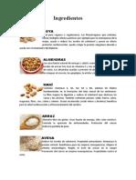 Valor Nutritivo de Cereales