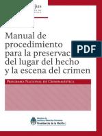Manual de Procedimiento Para la Preservación de la Escena del Crimen