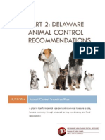 Delaware Animal Control Recommendations Part 2 (or Transition Plan - Final)