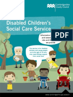 Social Care for Disabled Children Leaflet
