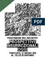 Trascizione Inconprospettive insurrezionali oggi 23 Giugno