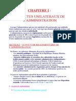 Ch i Les Actes Unilateraux