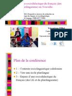 Enjeux d'une Sociodidactique Du Français (Des LK
