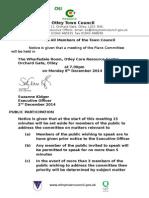 Plans Agenda 8th December 2014