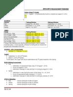 assessment calendar 2014-2015 updated 12 2 14