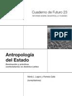 Lagos y Calla, Antropologia Del Estado - 1 (Corrigan y Sayer, Lagos y Calla, Rosberry)