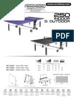 Instrucciones Montaje Mesa de Pingpong Cornilleau 250 Indoor