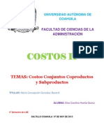 Costos Conjuntos (Trabajo)