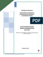 Plan Estratégico Institucional 2012-2016