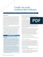Global Mental Health the Social Economic and Political Rights Challenges CHP13
