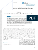 Balázs John (2013) - Patterns of Ageism in Different Age Groups