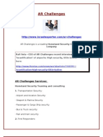 Homeland Security Consulting - AR Challenges
