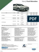Ford Mondeo - Cenník December 2014