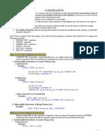 Constraints in Sql server