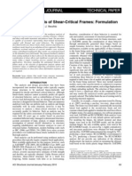 Pushover Analysis of Shear-Critical Frames