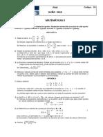 PAU 2012 Matemáticas II