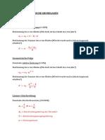 FINANZMATHE Formelsammlung