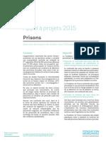 Prisons - appel à projets 2015 Fondation de France