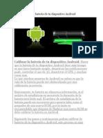 Calibrar La Batería de Tu Dispositivo Android