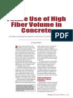 Future Use of High Fiber Volume in Concrete