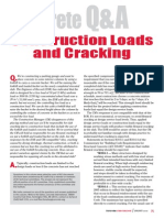 Construction Loads and Cracking