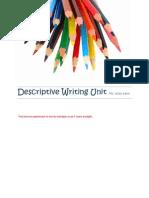 klein descriptive writing unit plan