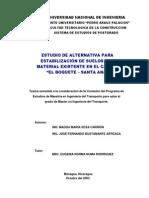 Estudio Para Estabilización de Suelo El Boquete-Santa Ana 01194 CON-N
