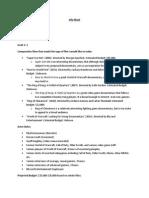 Info Sheet Draft One