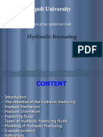 Hydraulic Fracturing design