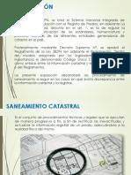 SANEAMIENTO CATASTRAL