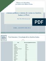 Partidos políticos y sistema de cuotas en América Latina y el Perú