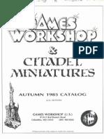 Citadel Miniatures Catalog 1985 US