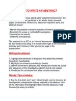 Instructions of How to Write a Successful Abstract