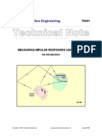 Measuring Impulse Response Using Dirac