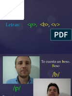 P, B, V