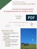 Electrificacion Rural Con Aerogeneradores de Pequena Potenci